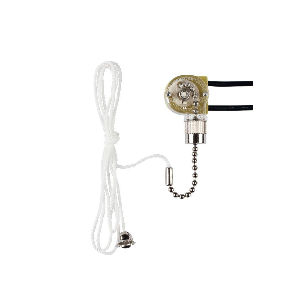 Commercial Electric Chrome Pull Chain Fan Light Switch