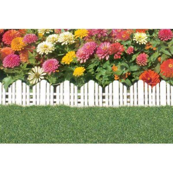 22 in. x 10 in. Plastic Adirondack Decorative Border Lawn Edging