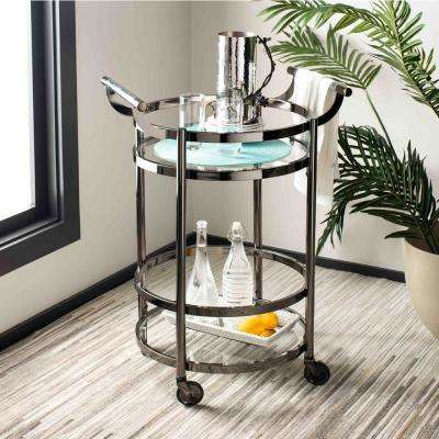 Sienna 2-Tier Gun Metal Bar Cart