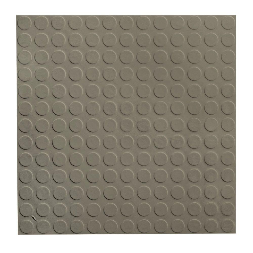 ROPPE Vantage Circular Profile 19 69 in  x 19 69 in  Lunar Dust Rubber Tile