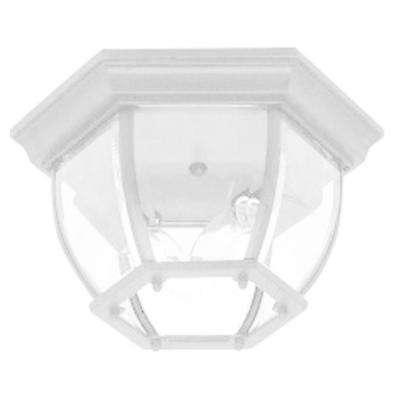 Sergej 2-Light White Outdoor Flush Mount