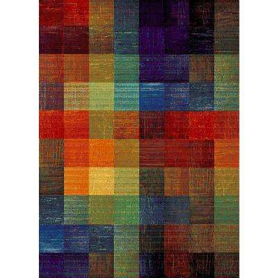 Aiza Collection Multi-Colored 5 ft. 3 in. x 7 ft. 3 in. Area Rug