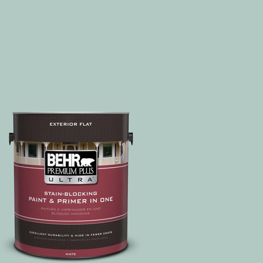 BEHR Premium Plus Ultra 1-gal. #S430-2 Fresh Tone Flat Exterior Paint