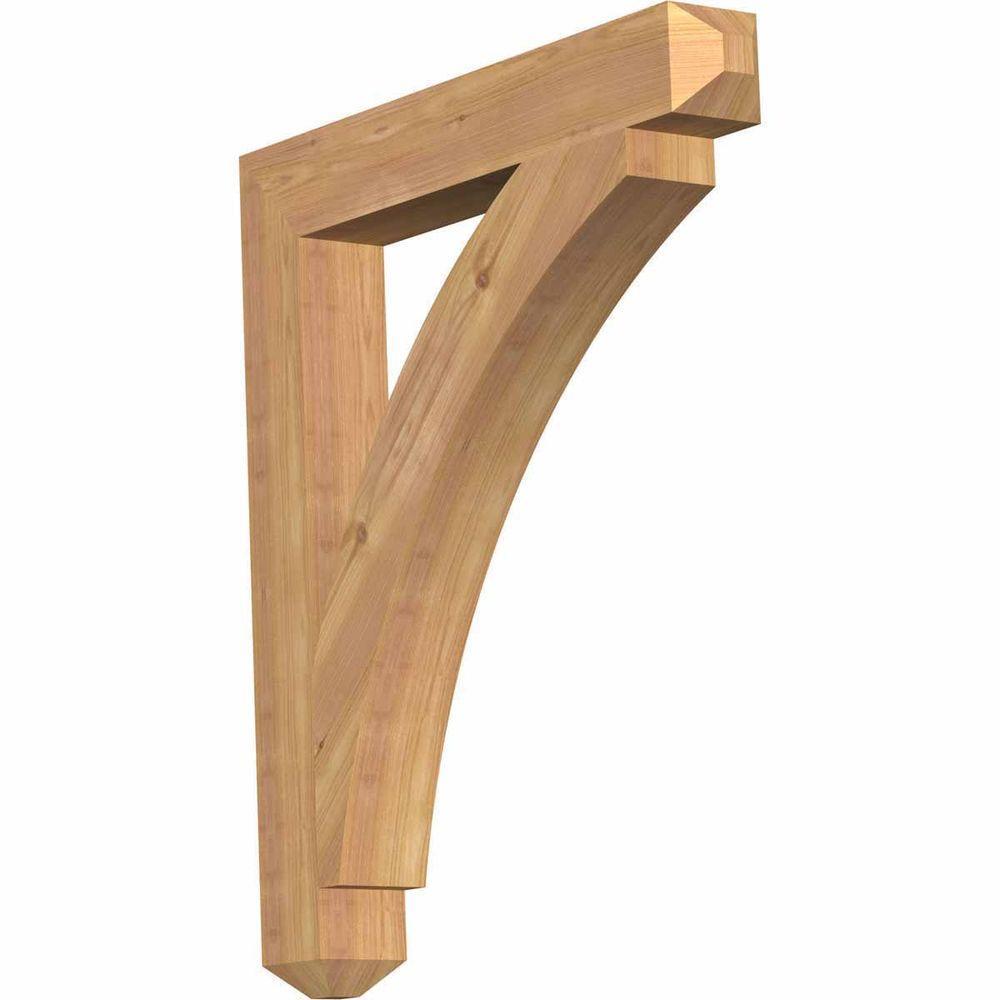 3.5 in. x 30 in. x 26 in. Western Red Cedar Thorton Craftsman Smooth Bracket