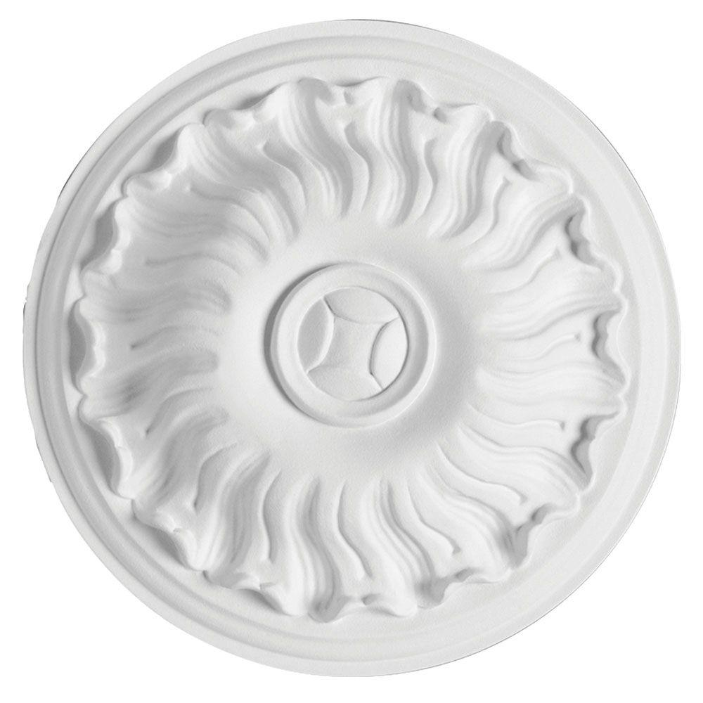 750x500mm Decke Dekor PU Stuck 1 Rosette R119 Grand Decor
