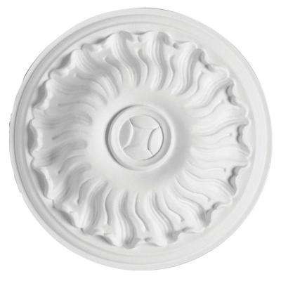 European Collection 7-1/2 in. x 1-9/16 in. Floral Rosette Polyurethane Ceiling Medallion