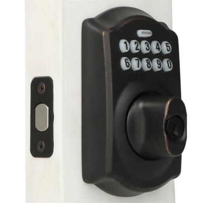 Camelot Aged Bronze Keypad Electronic Door Lock Deadbolt