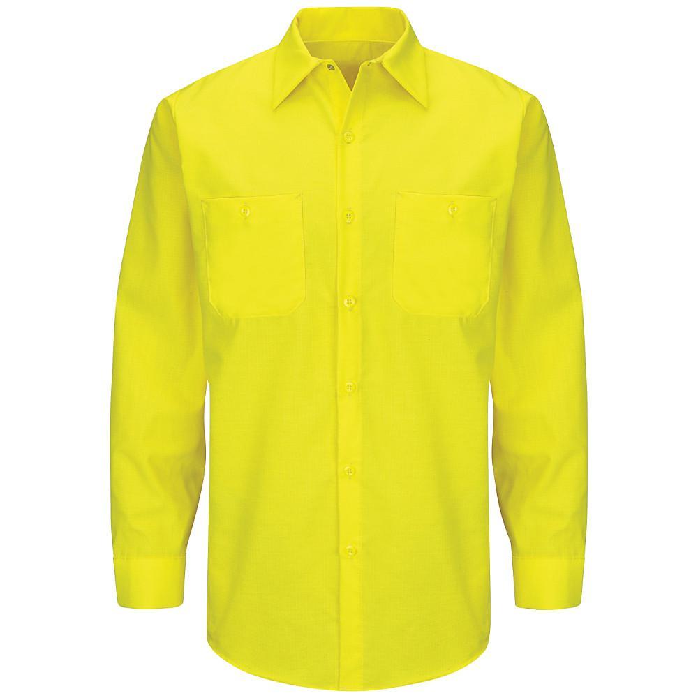 Men's Size L (Tall) Yellow Rip-Stop Shirt