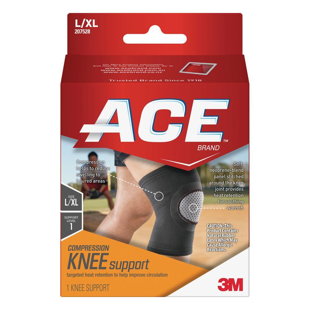 Large/Extra-Large Elasto-Preene Knee Support Brace in Black