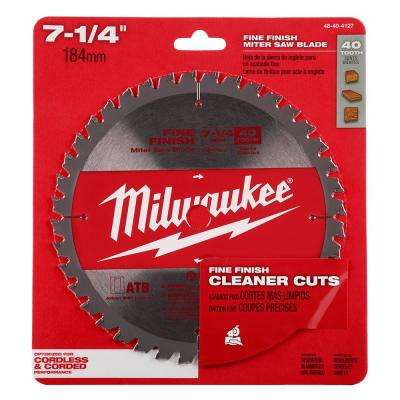 7-1/4 in. 40-Tooth Miter Saw Blade