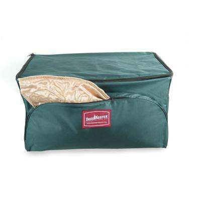 Ornament Keeper Storage Bag with Front Pocket (3-Tray)