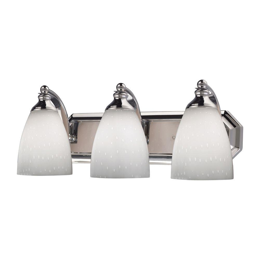 Titan Lighting 3-Light Polished Chrome Wall Mount Vanity Light
