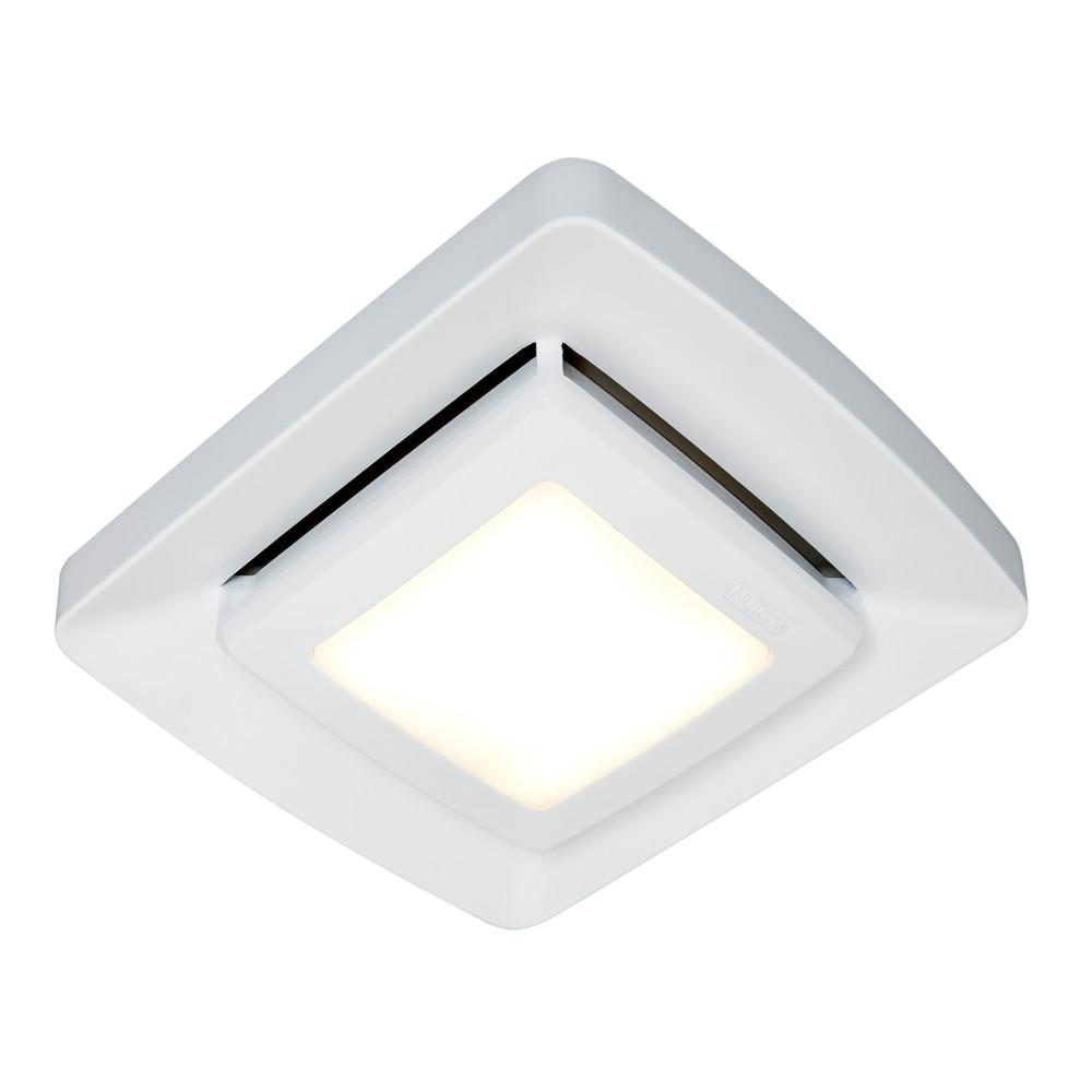 Broan-NuTone Quick Installation Bathroom Exhaust Fan Grille Cover with LED