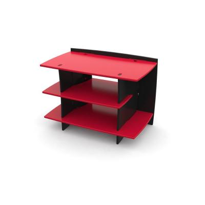 Kid's 3-Shelf Gaming Stand in Racing Red and Black Color