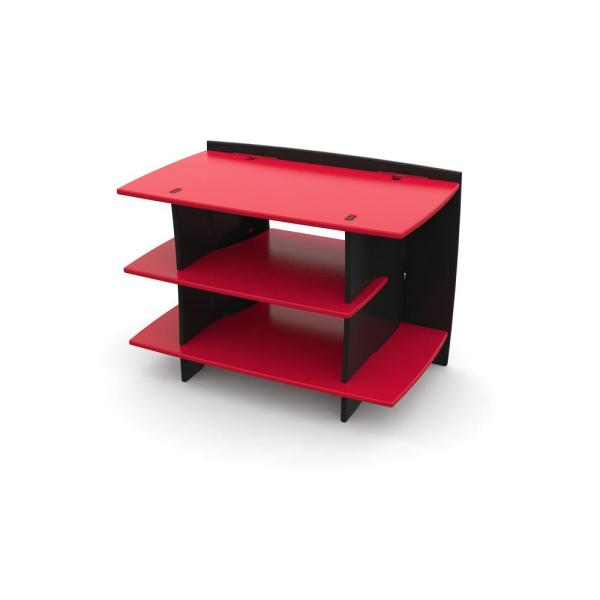 Legare Kid's 3-Shelf Gaming Stand in Racing Red and Black Color
