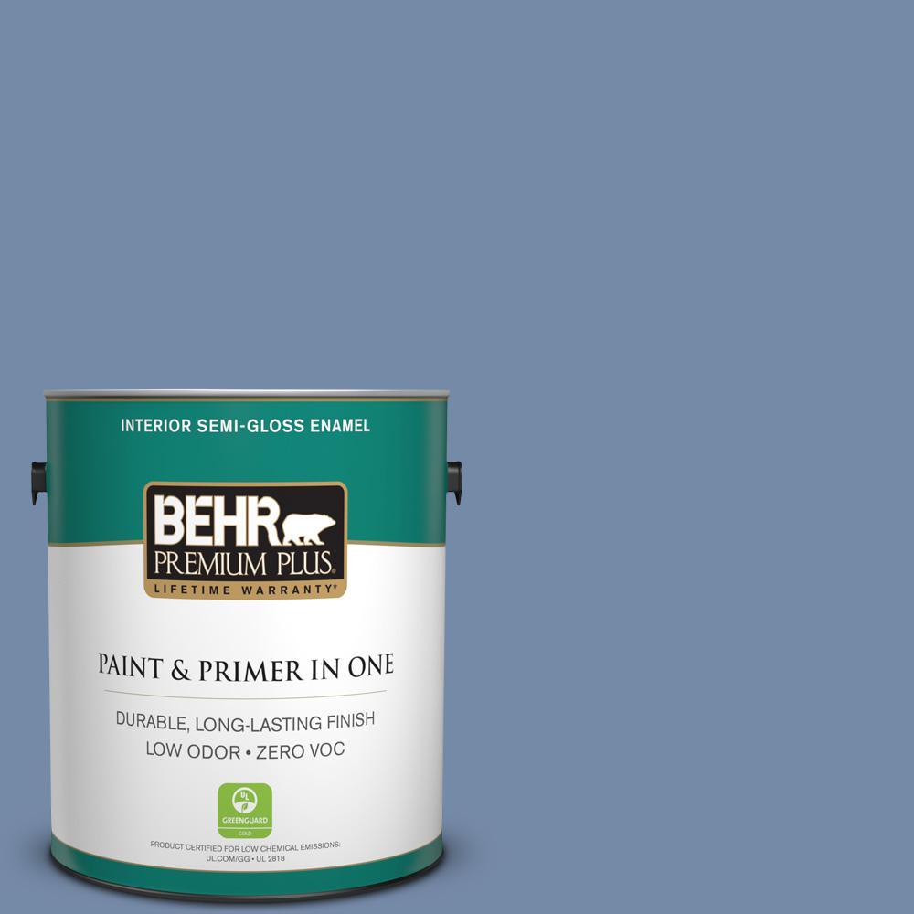 BEHR Premium Plus 1-gal. #590F-5 Magic Spell Zero VOC Semi-Gloss Enamel Interior Paint