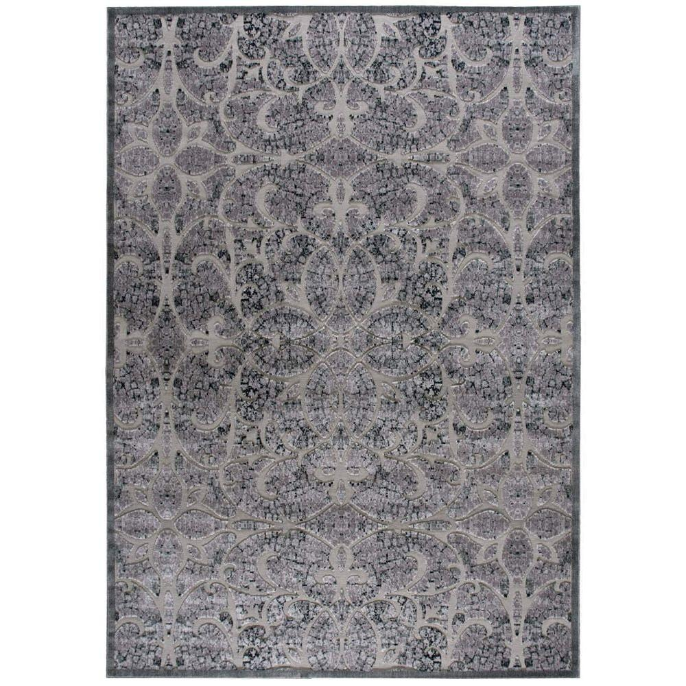 10 By 10 Area Rugs: Nourison Graphic Illusions Grey 7 Ft. 9 In. X 10 Ft. 10 In