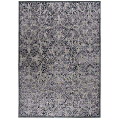Graphic Illusions Grey 8 ft. x 11 ft. Area Rug