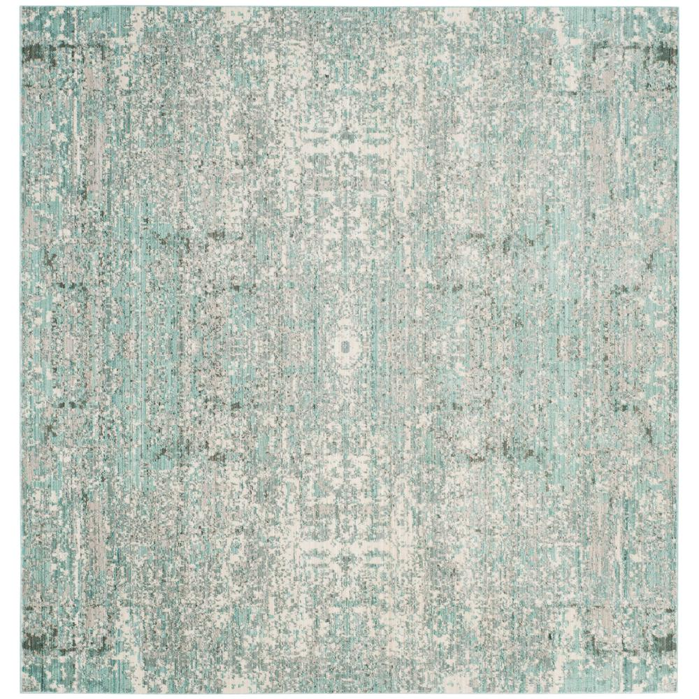 Safavieh Mystique Teal/Multi 6 Ft. 7 In. X 6 Ft. 7 In