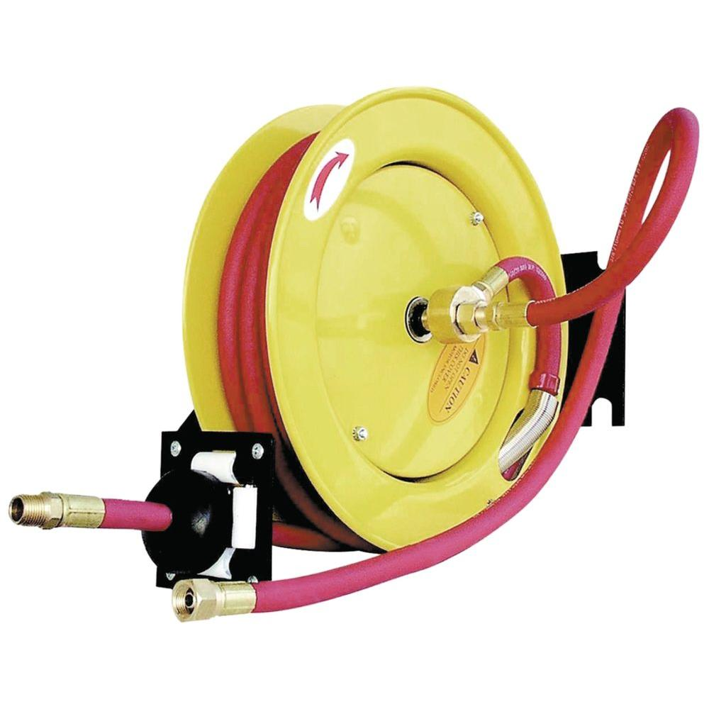 Amflo Retractable Air Hose Reel with 50 ft. Rubber Air Hose