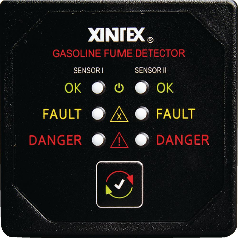 Dual Channel Gasoline Fume Detector with 2 Sensors and Fault Light