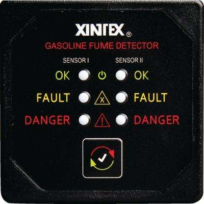 Dual Channel Gasoline Fume Detector with 2 Sensors and Fault Light Alarm