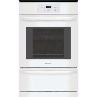 24 in. Single Gas Wall Oven in White