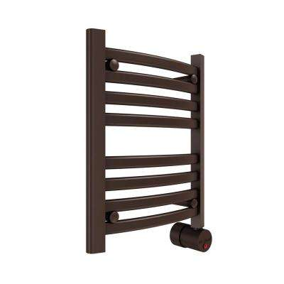 8-Bar Wall Mounted Electric Towel Warmer with Digital Timer in Oil Rubbed Bronze