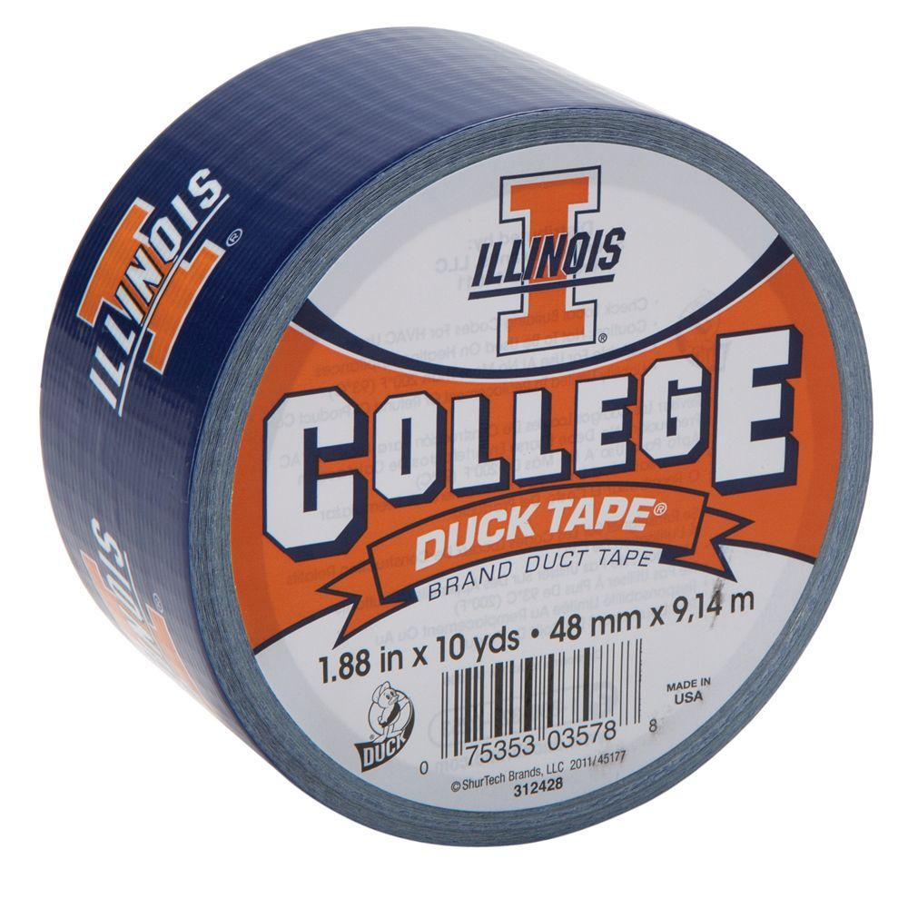 Duck College 1-7/8 in. x 30 ft. University of Illinois Duct Tape (6-Pack)