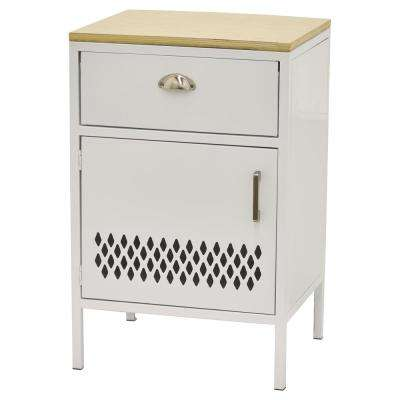 29 in. White Metal Storage Cabinet