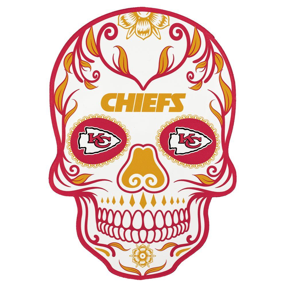 NFL Kansas City Chiefs Outdoor Skull Graphic- Small