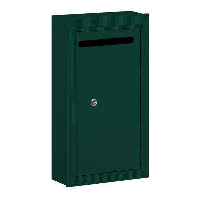 2260 Series Green Slim Surface-Mounted Private Letter Box with Commercial Lock