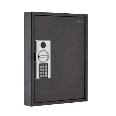 60-Key Steel Heavy-Duty Digital Lock Key Cabinet, Black