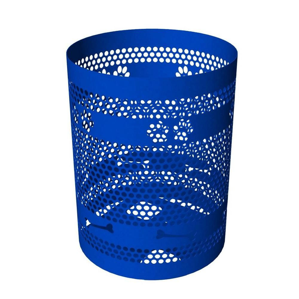 32-Gal. Blue Commercial Trash Receptacle