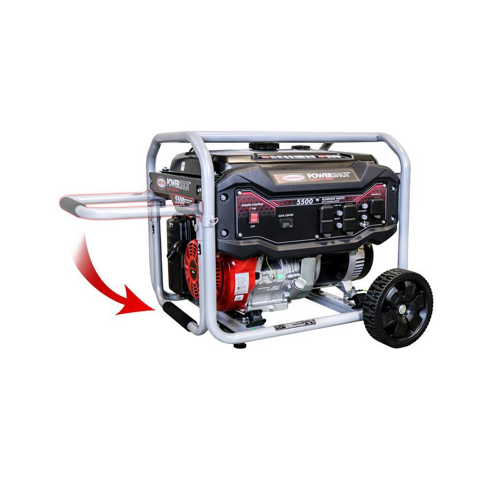 5,500-Watt Gasoline Powered Portable Generator