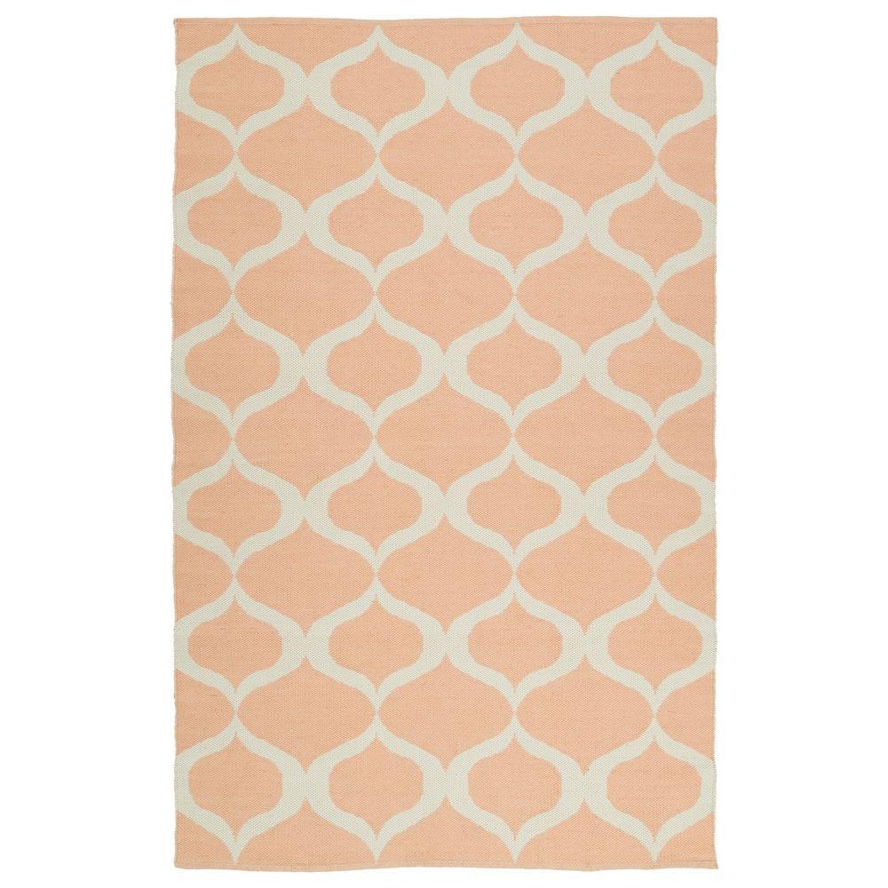 kaleen brisa pink 8 ft x 10 ft indoor outdoor reversible area rug bri09 92 810a the home depot. Black Bedroom Furniture Sets. Home Design Ideas