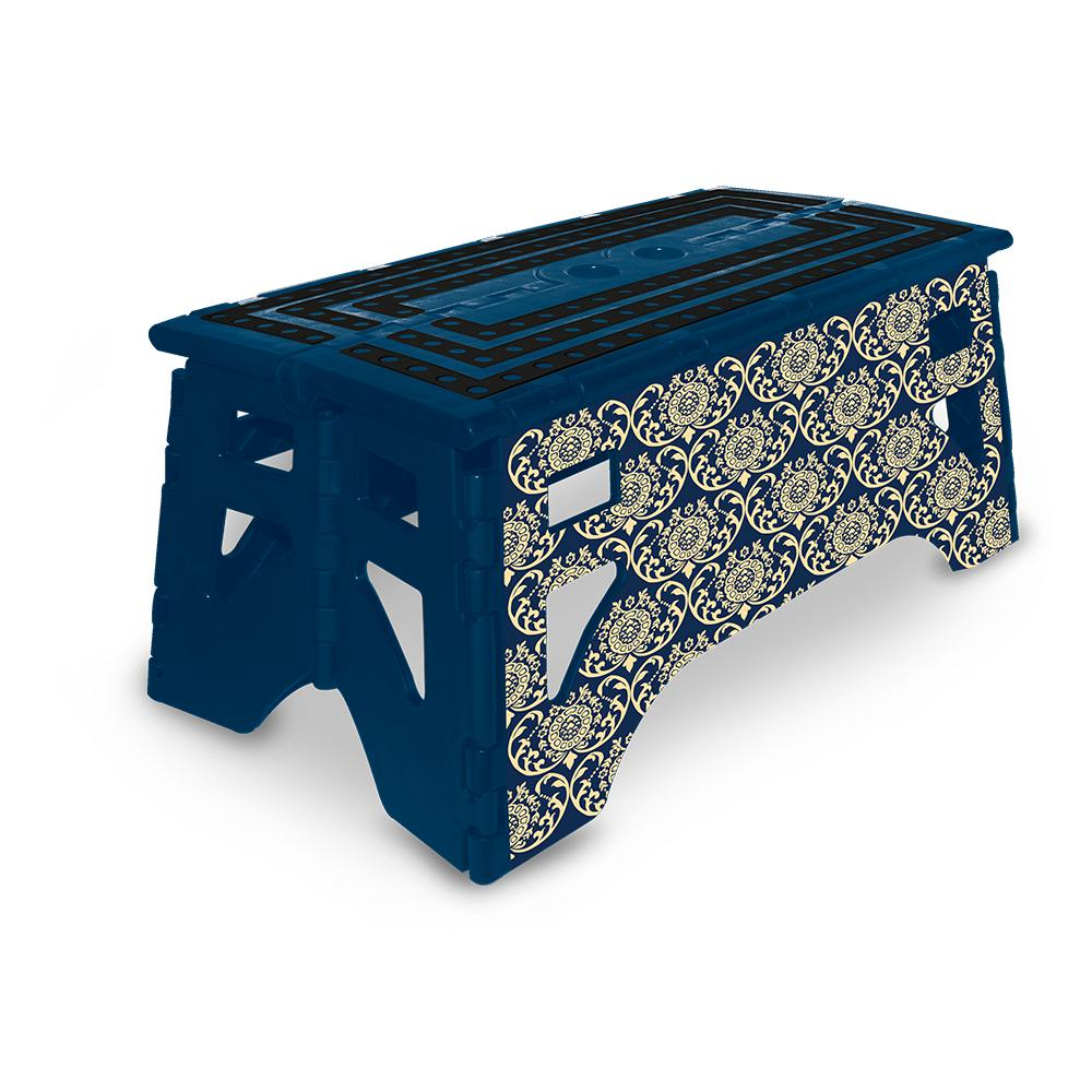 Expace 13 In Plastic Folding Step Stool With 350 Lbs
