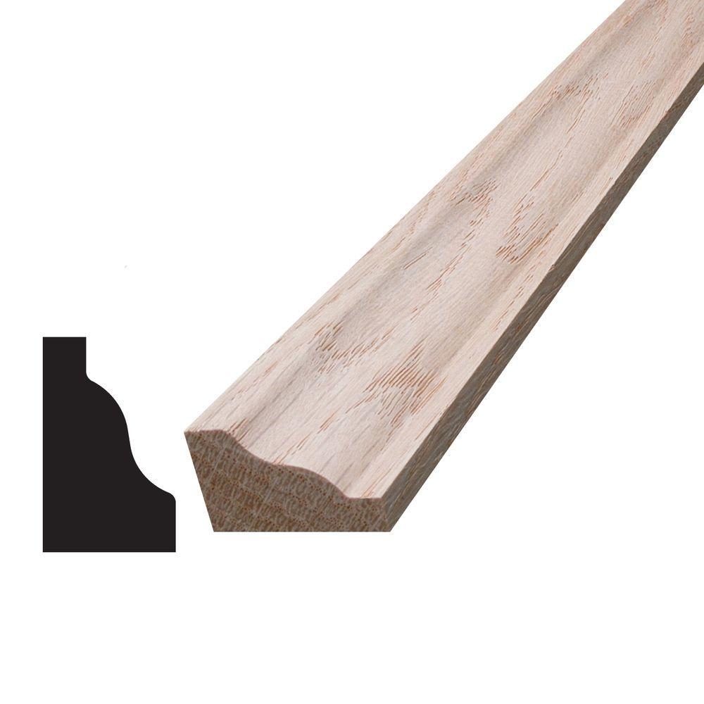 3/4 in. x 1-1/4 in. x 96 in. Oak Panel Cap Moulding