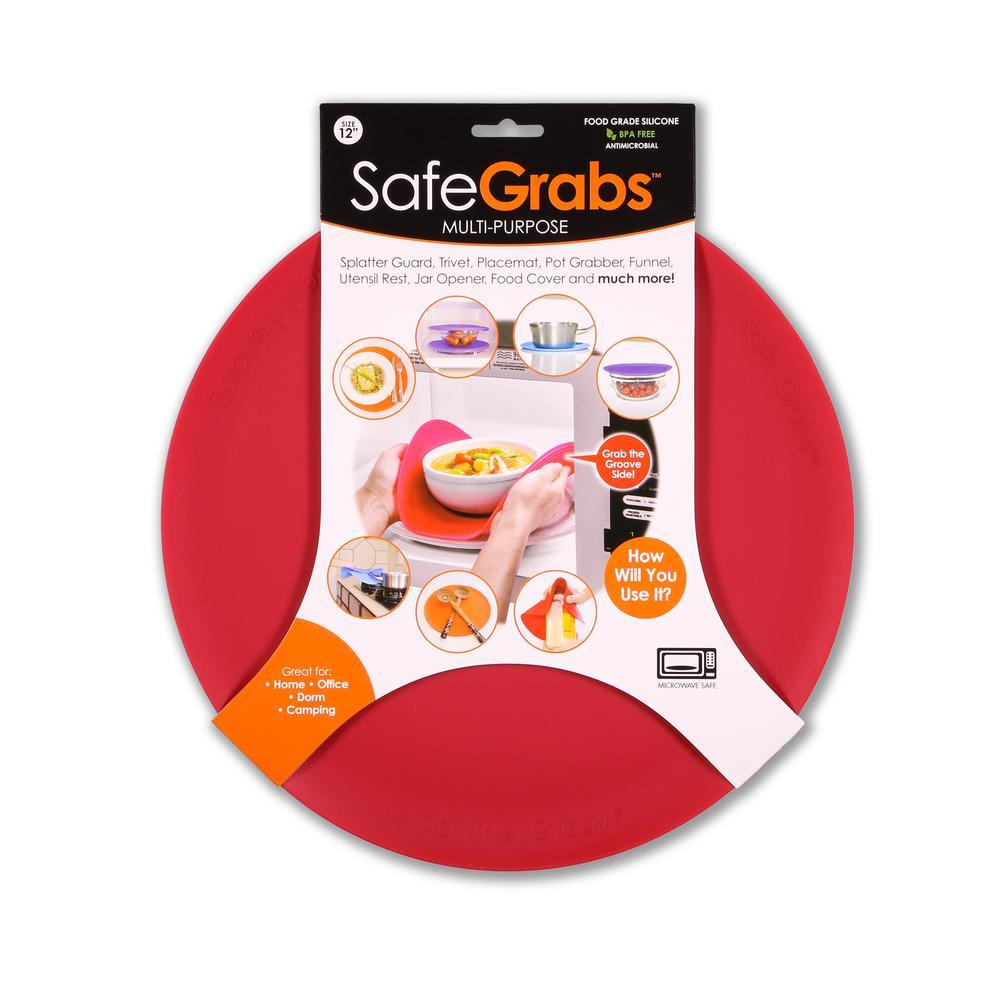 Safe Grabs Silicone True Red Pot Holder