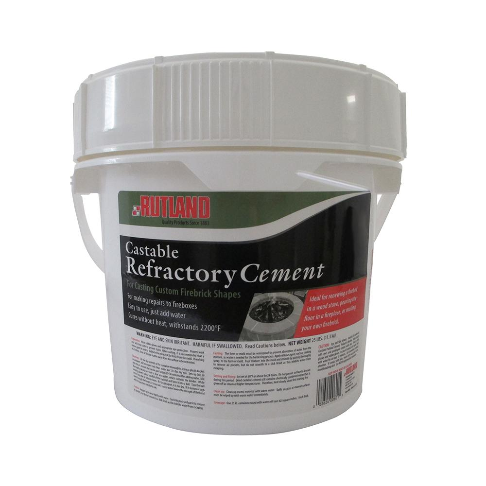Rutland 25 Lbs Castable Refractory Cement Tub 601 The Home Depot
