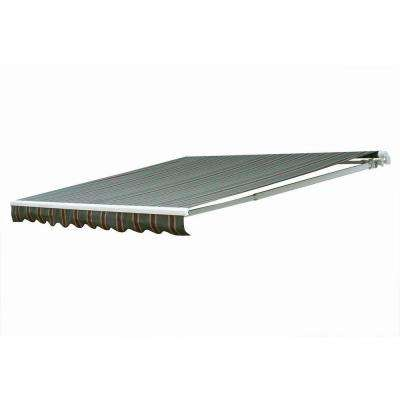 20 ft. 7000 Series Motorized Retractable Awning (122 in. Projection) in Brown/Tan