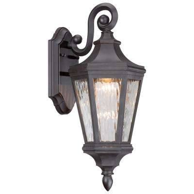 Hanford Pointe 19 in. Oil-Rubbed Bronze Outdoor Integrated LED Wall Mount Lantern