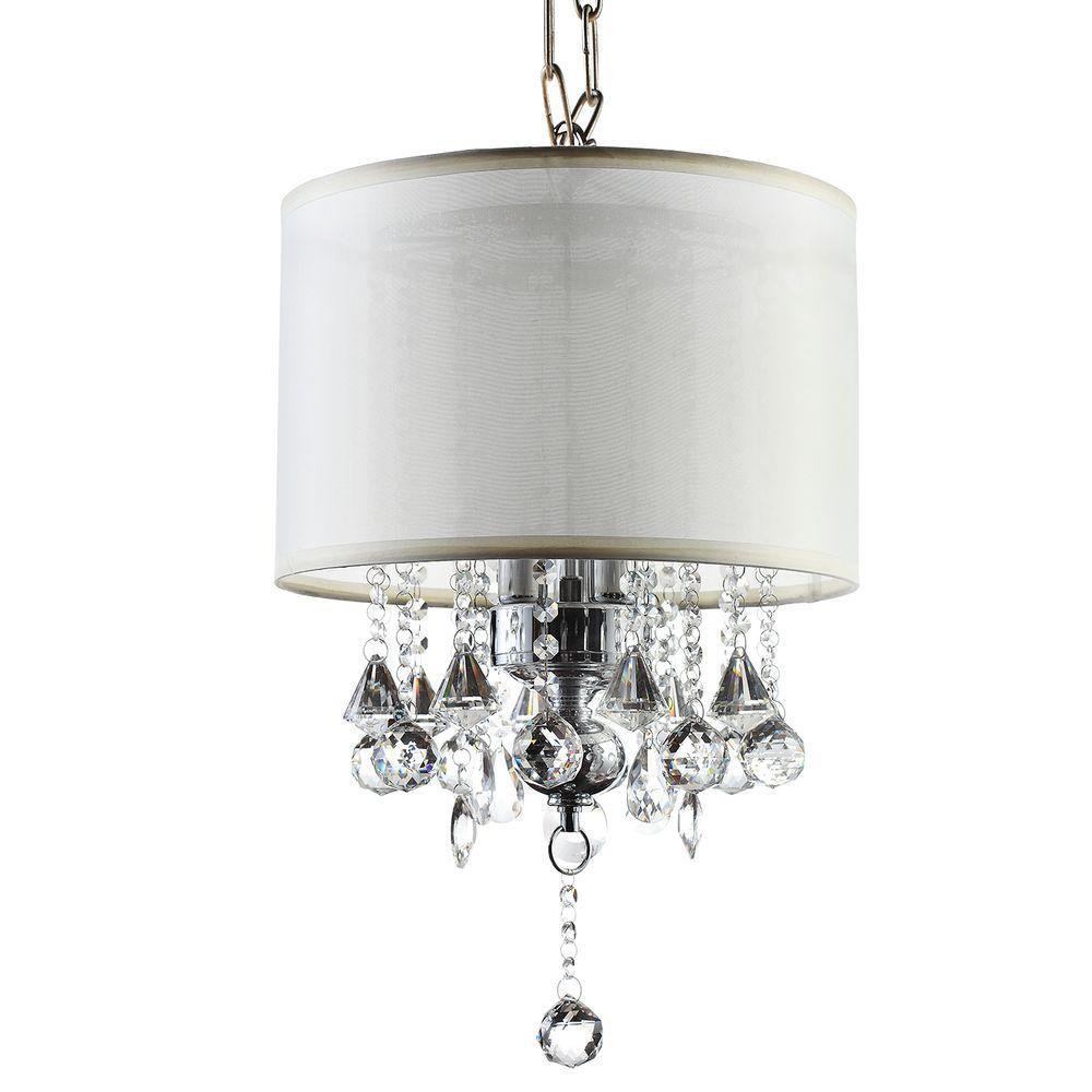 HomeSullivan 3-Light Silver Drop Assorted Crystal Chandelier
