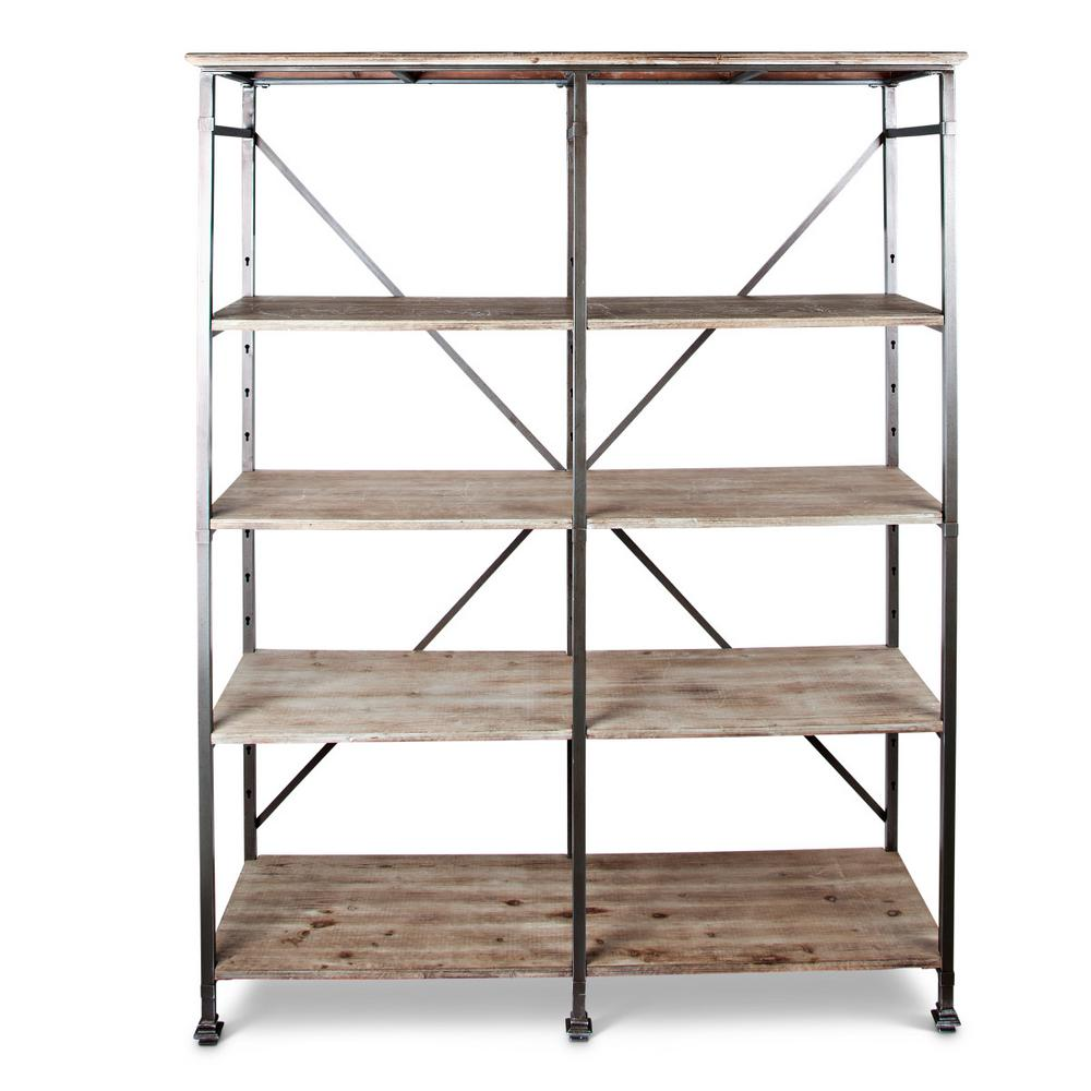 74.25 in. H Heavy Iron Frame Shelf