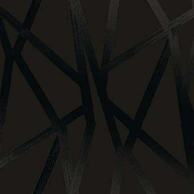 Intersection Black on Black Self-Adhesive Removable Wallpaper