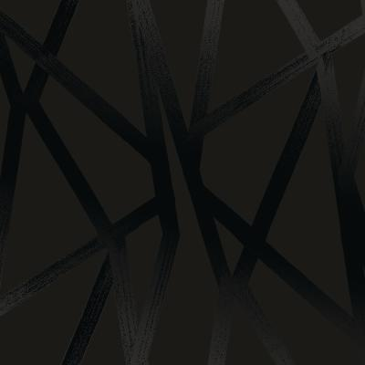 Genevieve Gorder Intersections Black on Black Peel and Stick Wallpaper 56 sq. ft.