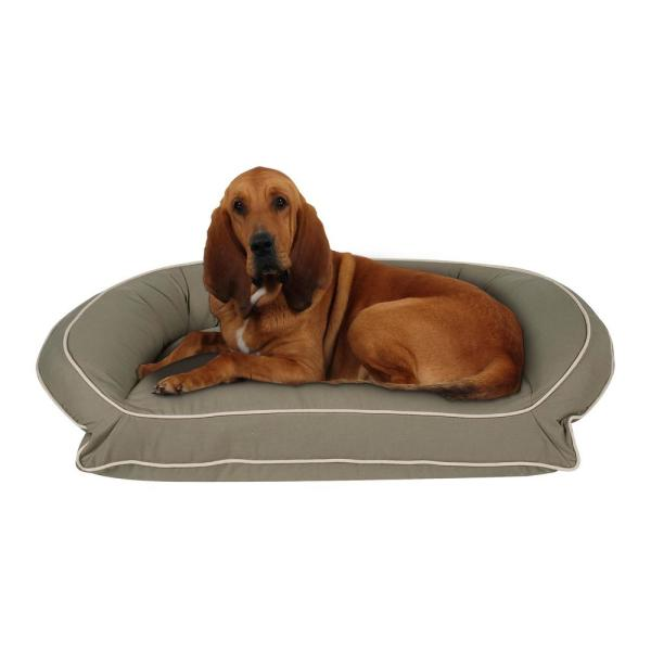 Carolina Pet Company Large X Large Sage Classic Canvas Bolster Bed With Orthopedic Foam 019470 F The Home Depot