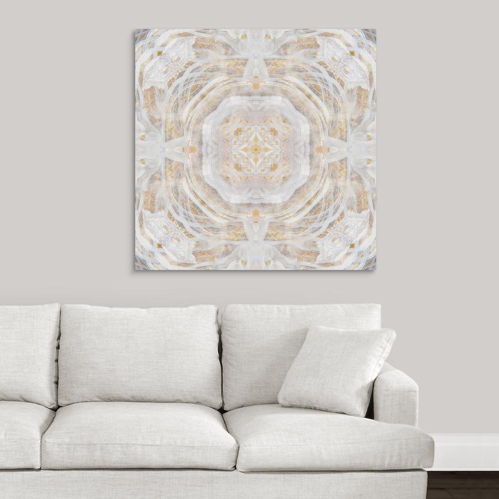 Light Metallic Kaleidoscope I By Nan Art Canvas Wall Art