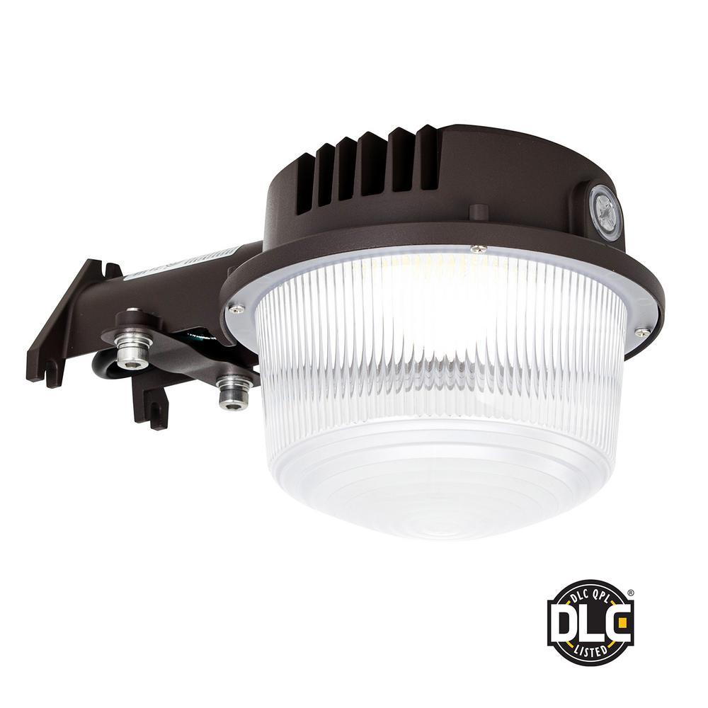 40-Watt, 300-Watt Equivalence Integrated LED Bronze Weather Resistant with Photocell Sensor Area Light, 5000K