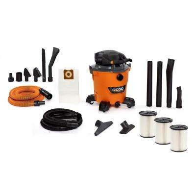 12 Gal. 6.0-Peak HP NXT Wet/Dry Shop Vacuum with Detachable Blower, Two Additional Filters and Premium Car Cleaning Kit